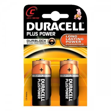 Alkalické Baterie Plus Power DURACELL LR14/MN1400 (2 pcs)