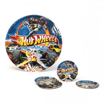 Sada 5 talířů Hot Wheels Karton 113660